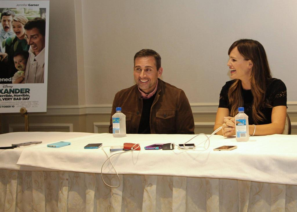 Jennifer Garner & Steve Carell on Alexander and the Terrible, Horrible, No Good, Very Bad Day