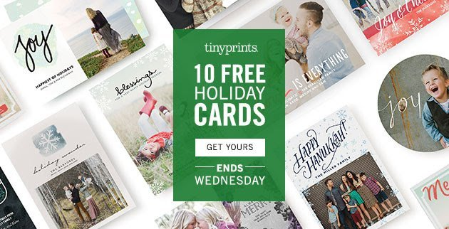 10 FREE Holiday Cards from Tiny Prints, just for YOU!