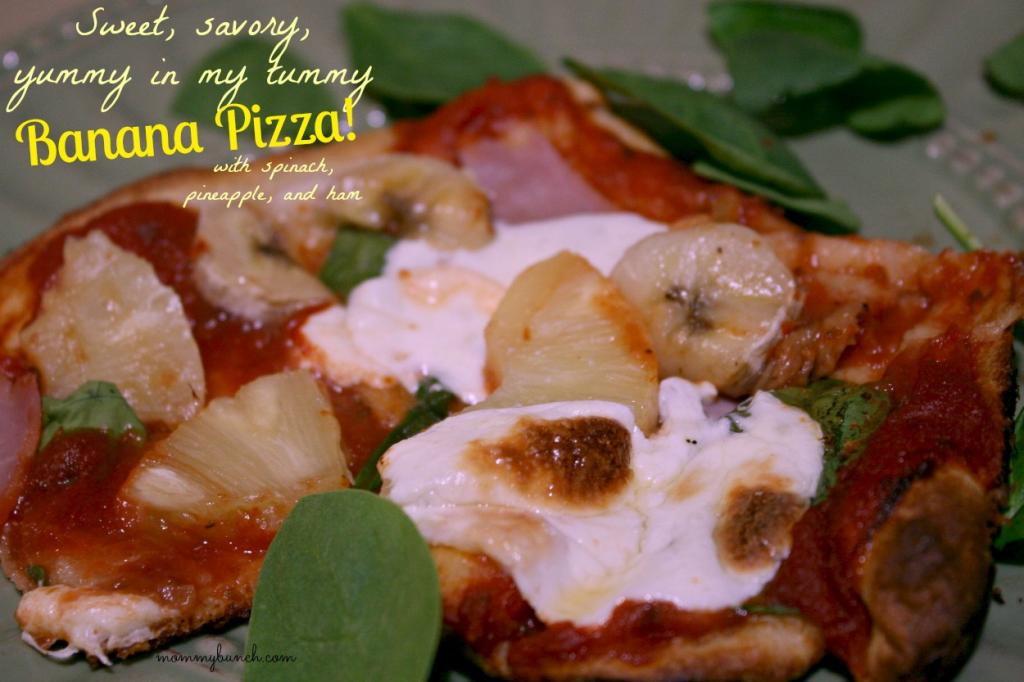 Sweet & Savory – Banana, Spinach, Pineapple, and Ham Pizza!
