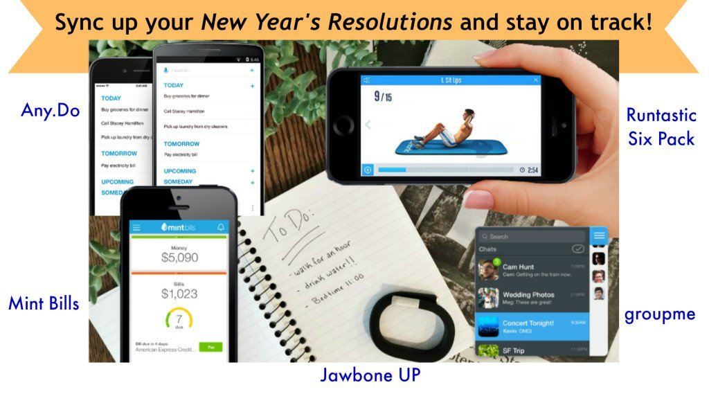 Sync up your New Year's Resolutions and stay on track!