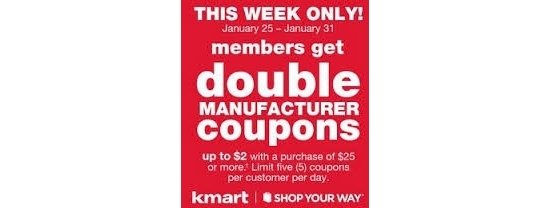Kmart hosting its DOUBLE Coupon Days this week only!