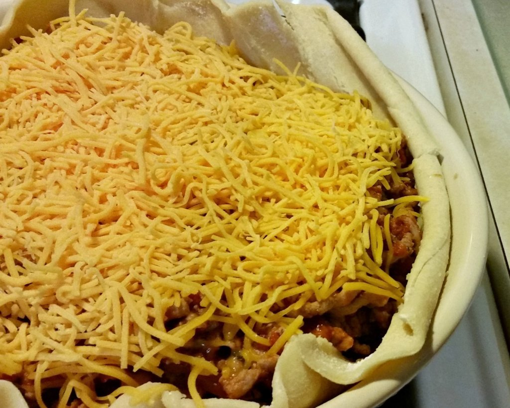 Taco Pie with cheese
