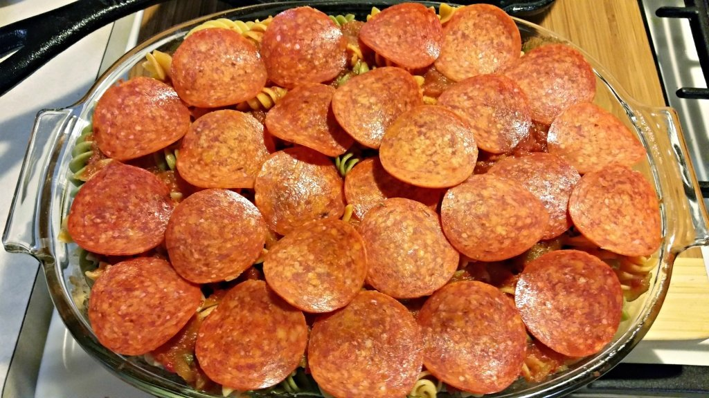 sausage and pepperoni bake4