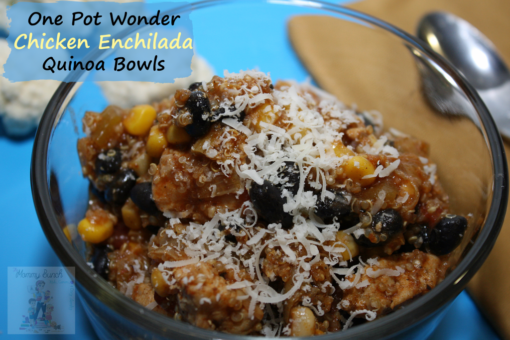 Quinoa Chicken Enchilada Bowls – One Pot Wonder
