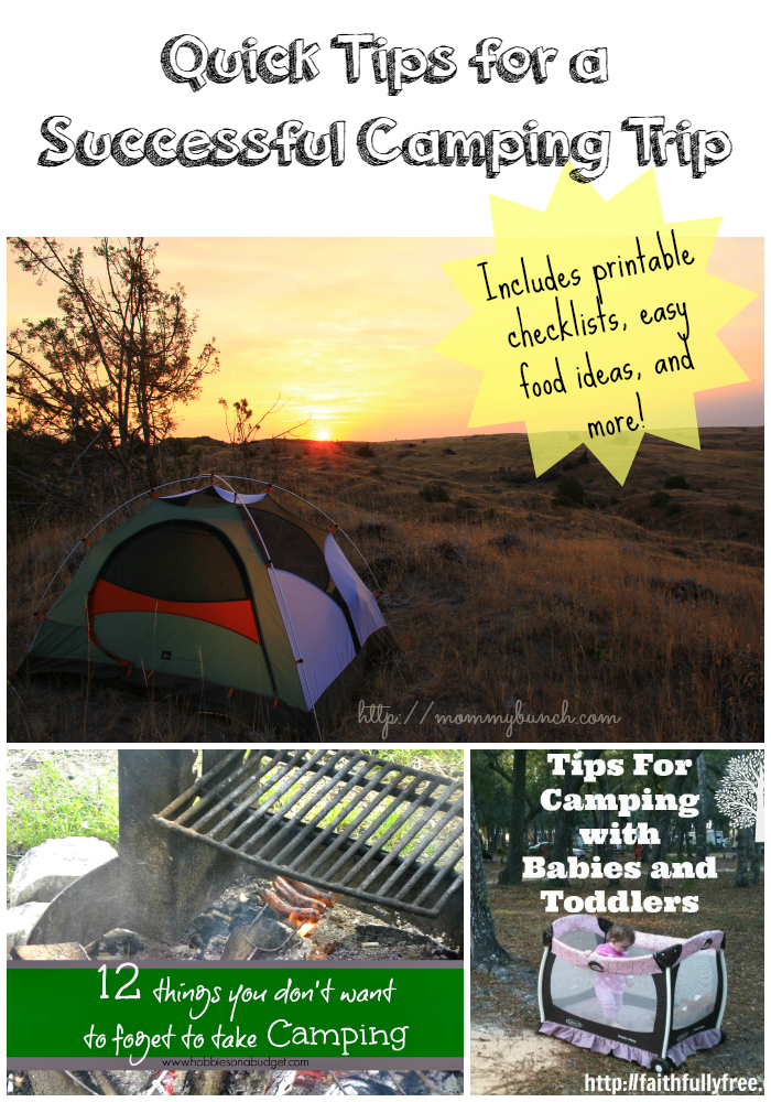 National Camping Month – Five Quick Tips for a Successful Trip!