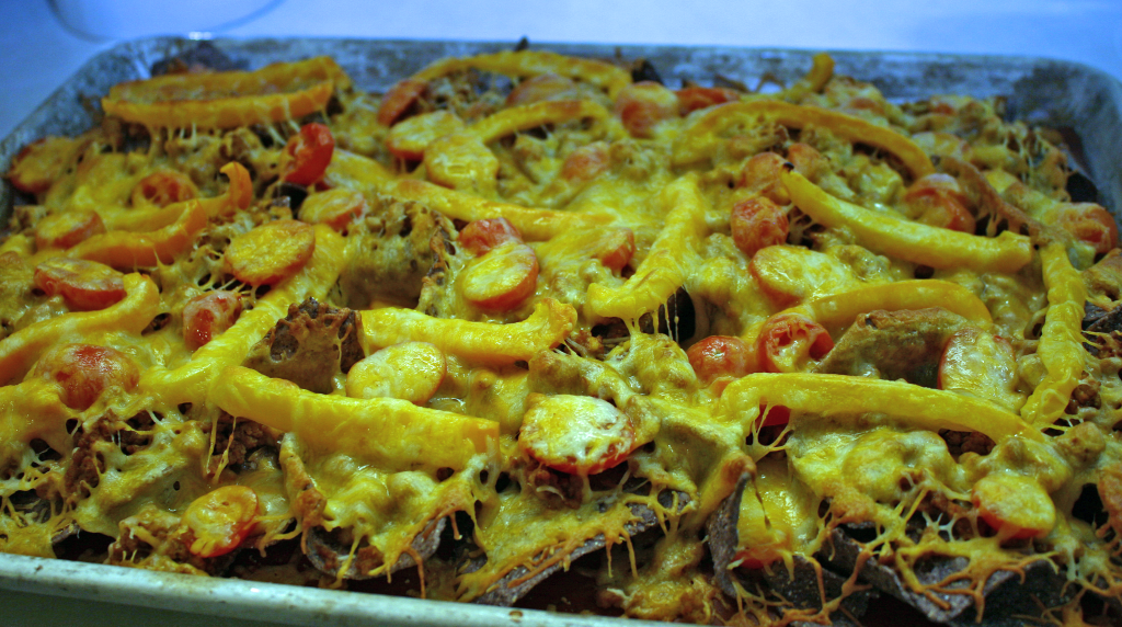 Loaded Nachos - cheese melted