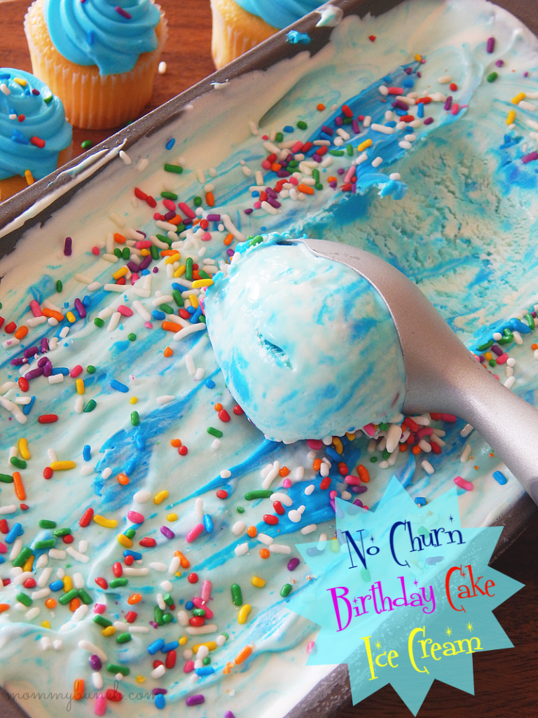 Easy no-churn Birthday Cake Ice Cream