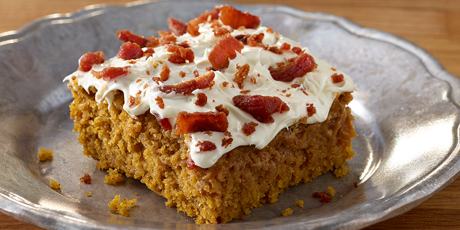Bacon Pumpkin Bars with Real Hormel Bacon