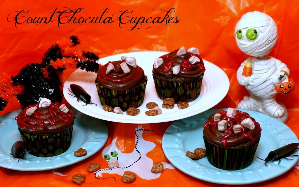 Perfectly Chocolate and Deliciously Spooky Count Chocula Cupcakes