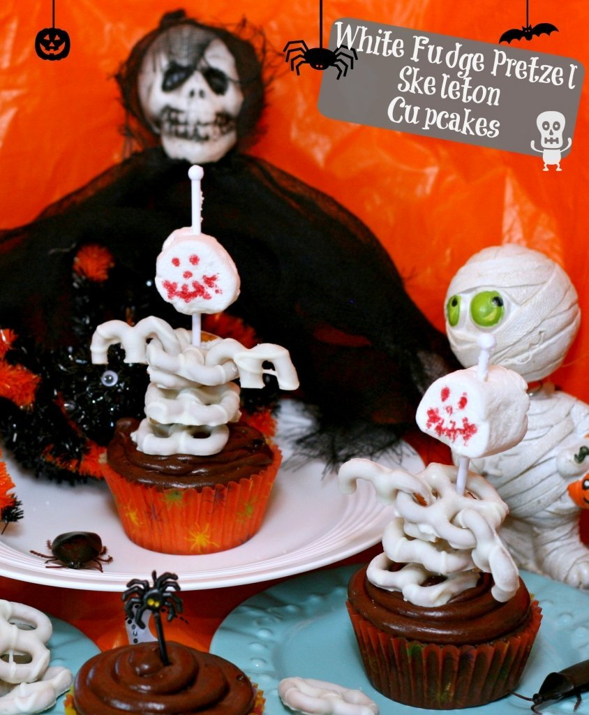 Skeleton Cupcakes Made Easy