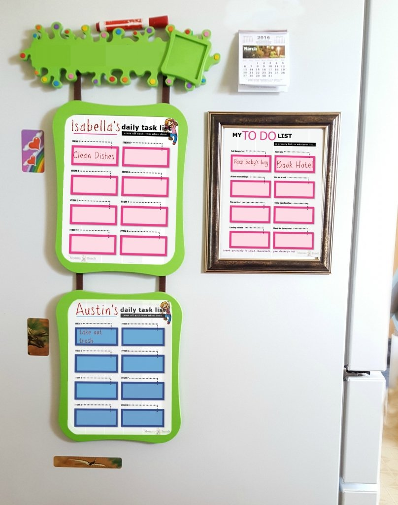 fridge task list DIY dry erase board