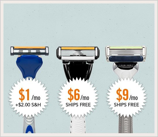 Join dollar shave club for $1