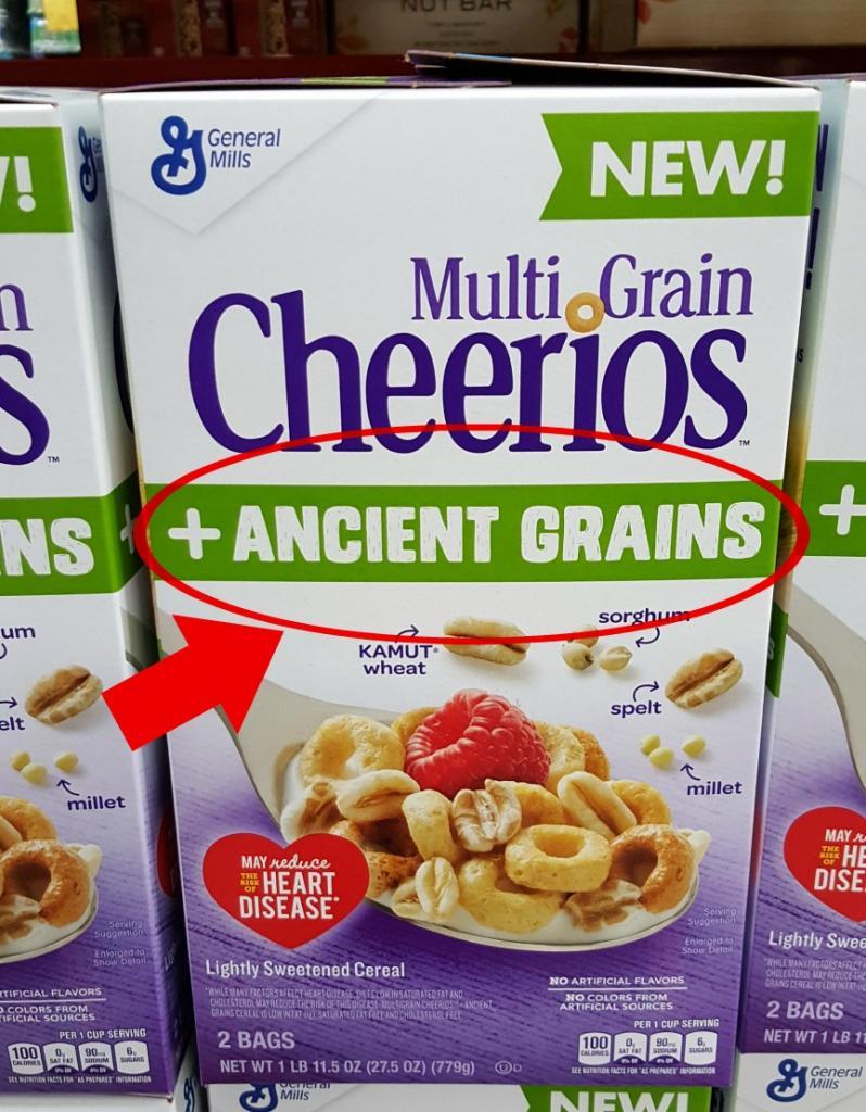 cheerios ancient grains box