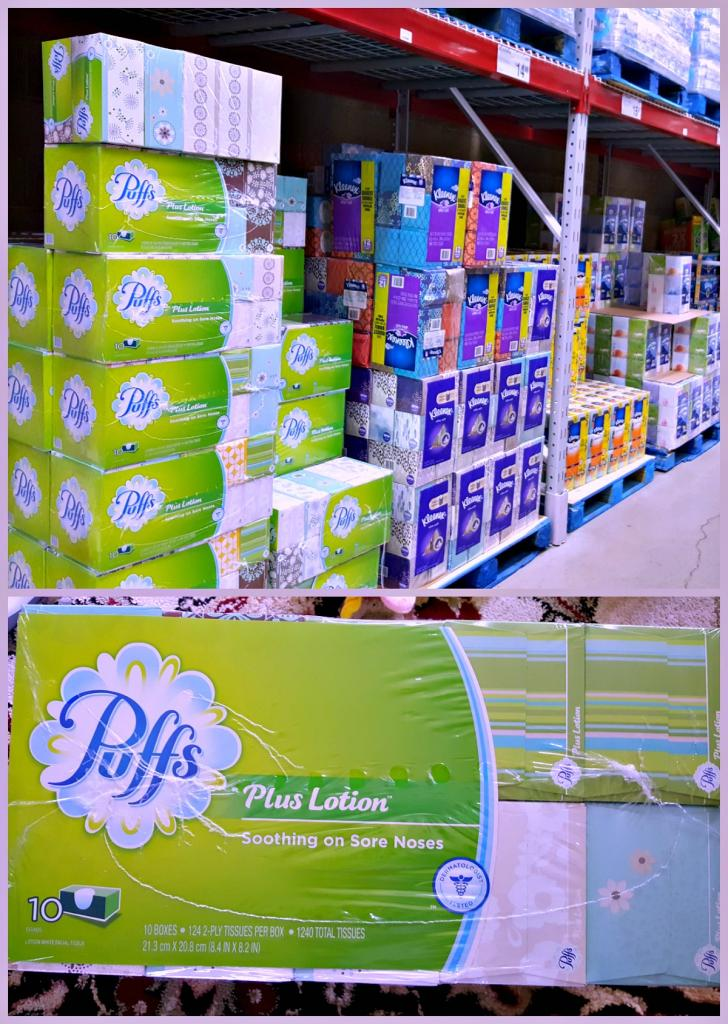 Puffs Plus Lotion at Sams Club