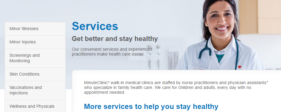 minute clinic services