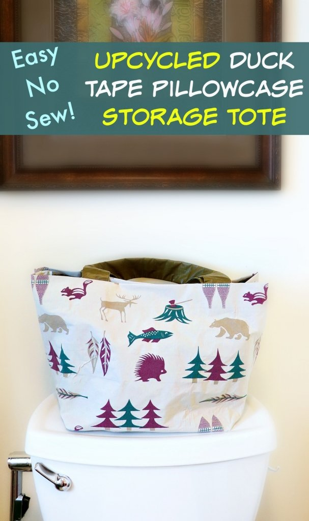 DIY Small Bathroom Storage Ideas – Make an Upcycled Tote Basket!