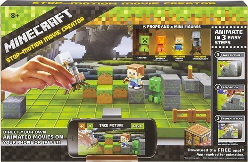 Minecraft Toys For Kids Stop Motion Movie Maker