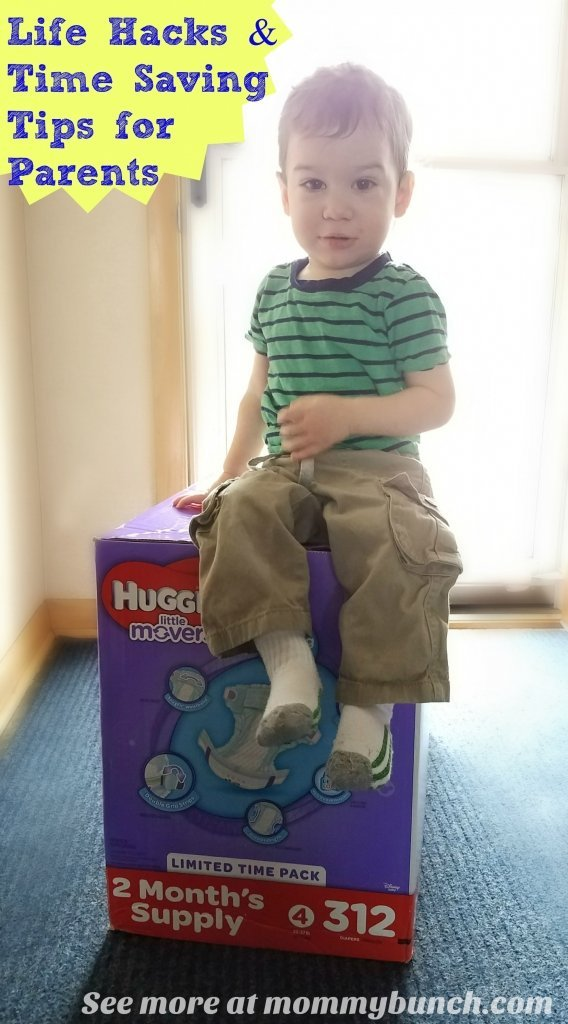 Life Hacks For Parents - Time Saving Tips like Bulk Huggies Diapers