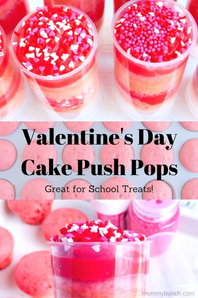 Easy Valentine Treat Idea For School – Valentine's Day Cake Push Pops!