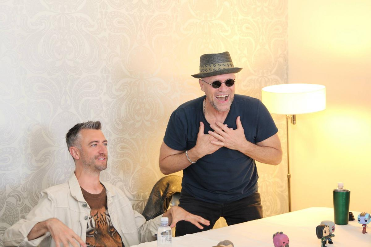 Michael Rooker (Yondu) and Sean Gunn (Kraglin) – Guardians Interview
