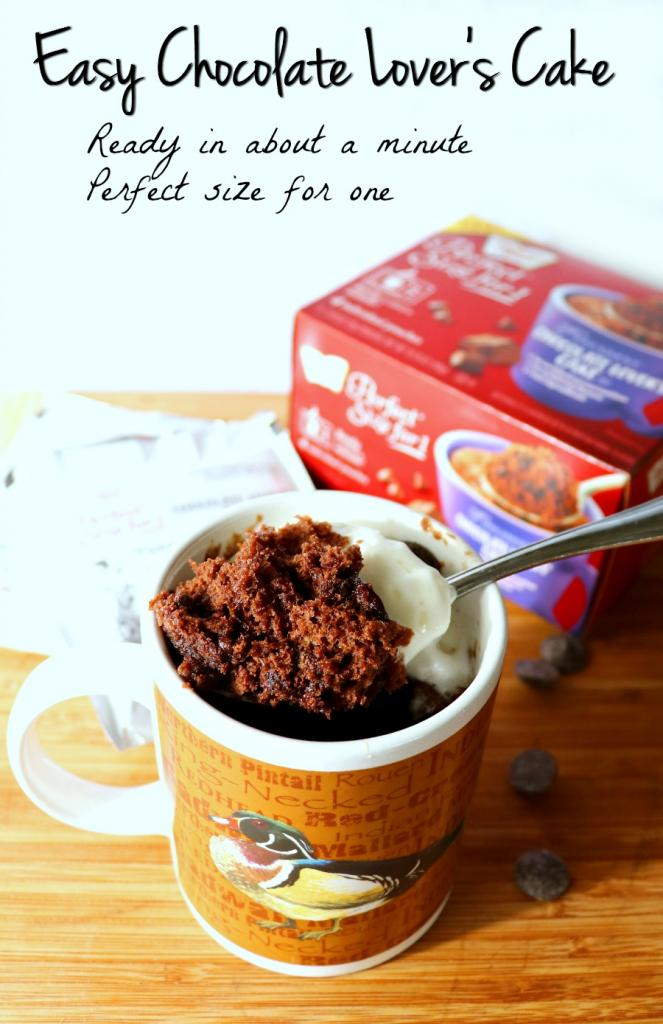 Chocolate Lover's Cake – A Mug, Water, and a Minute. How Perfect Is That?
