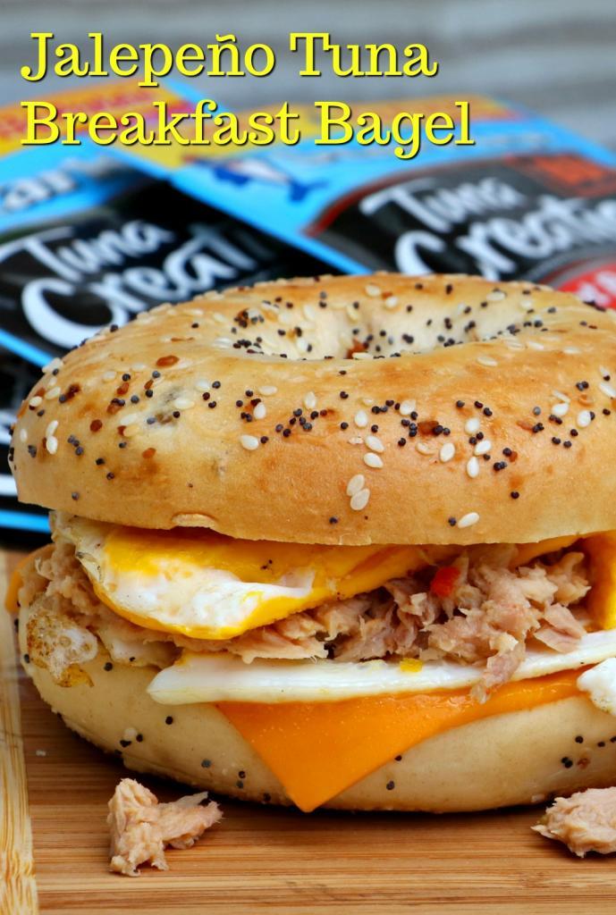 Jalapeno Tuna Breakfast Bagel Sandwich