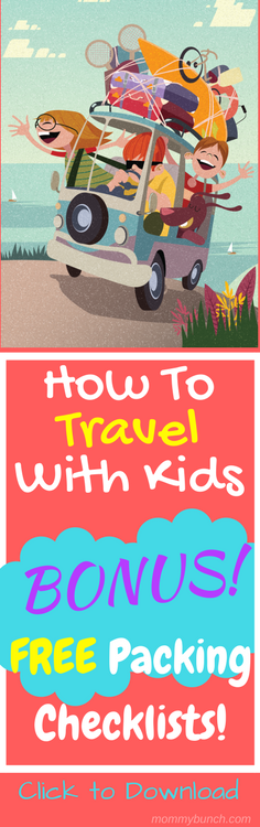 How to travel with kids with a bonus free packing checklist!
