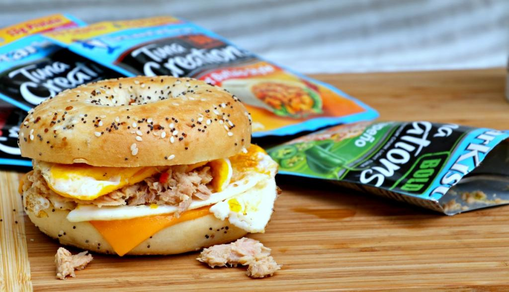 A New Twist On The Breakfast Bagel Sandwich with StarKist Tuna Creations