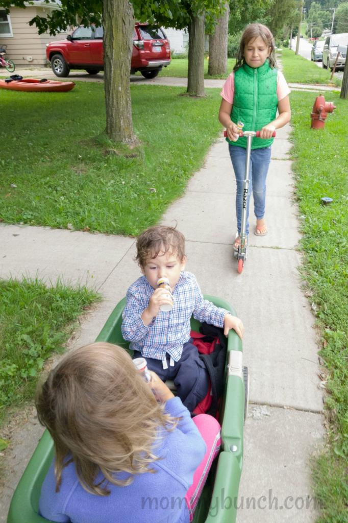 If you are looking for a simple family routine to get in some family time on a daily basis, keep it simple! We do a daily walk. Find more simple ideas here!