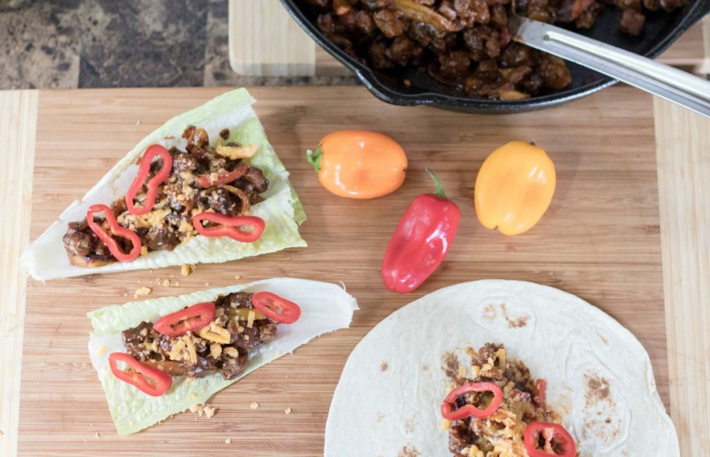 Easy Clean Eating – Taco Chipotle Flavored Beef Lettuce Wraps