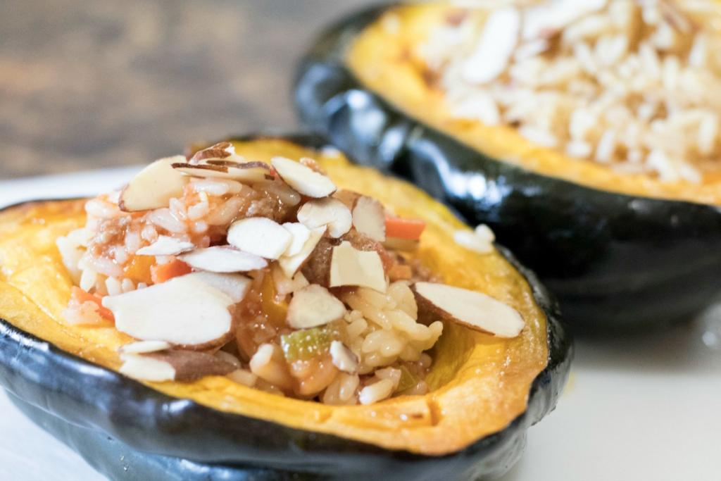 Kids In The Kitchen – Stuffed Acorn Squash and Stuffed Peppers