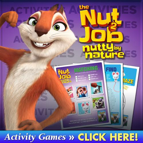 Check out our review of The Nut Job 2 and get Free Printable activities that are perfect for kids!
