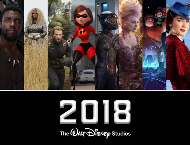 2018 Walt Disney Studios Motion Picture Release Schedule