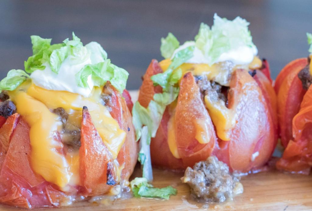Easy Peasy Cheesy Stuffed Tomatoes