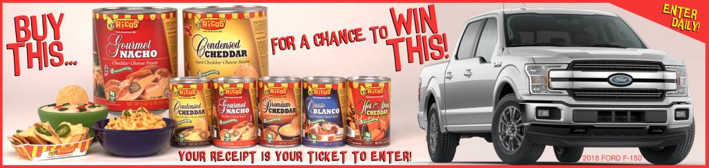 Ricos cheese truck sweepstakes