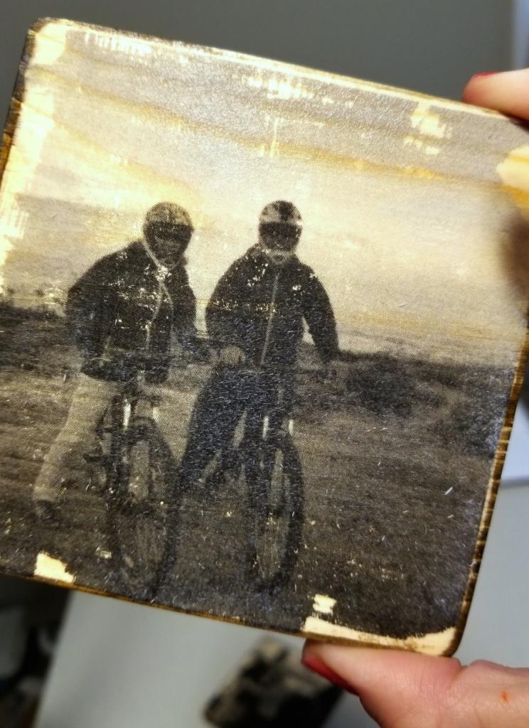 photo transfer to wood coasters