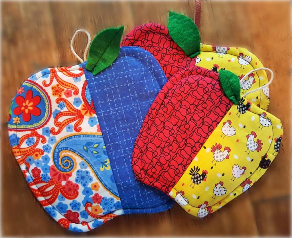 Easy Sewing Project – Apple Hot Pads and Coasters